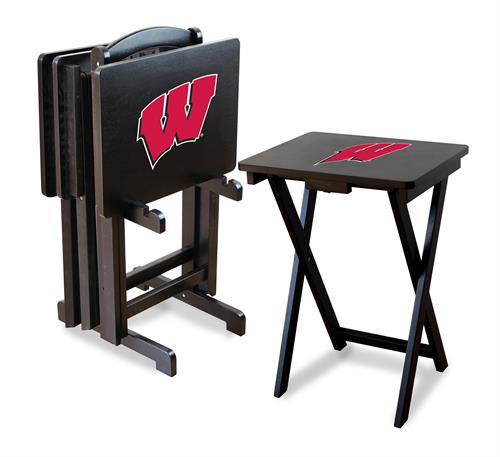 Wisconsin Badgers TV Snack Tray Set