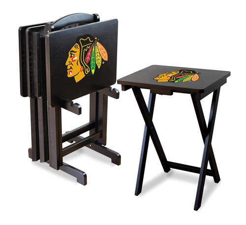Chicago Blackhawks TV Snack Tray Set