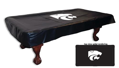 Kansas State Wildcats White Logo Pool Table Cover