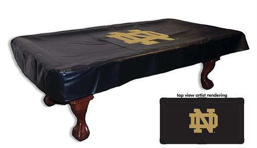 Notre Dame Pool Table Cover ND Logo