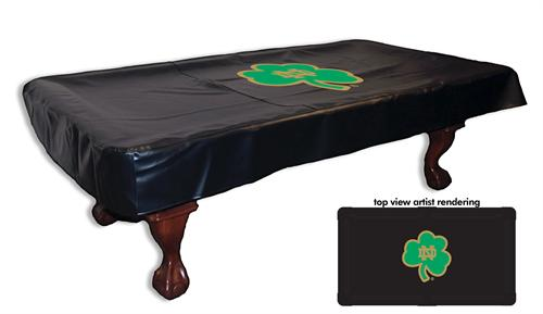 Notre Dame Pool Table Cover Shamrock Logo