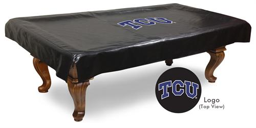 Texas Christian Horned Frogs Pool Table Cover