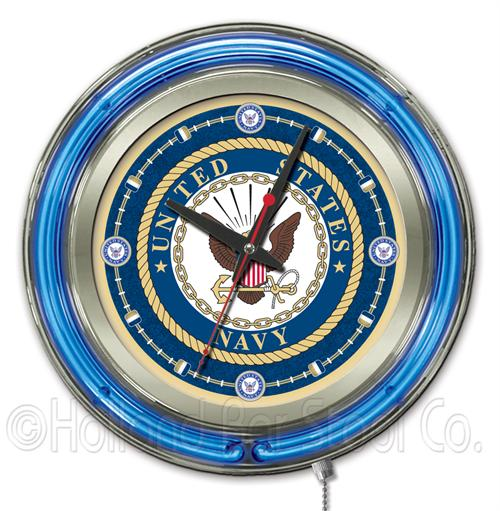 United States Navy 15 Inch Neon Clock