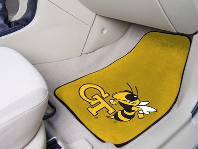 Georgia Tech Carpet Car Mats Style 1