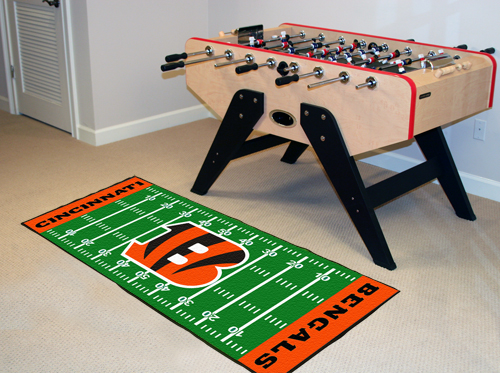 Cincinnati Bengals Football Field Runner Mat