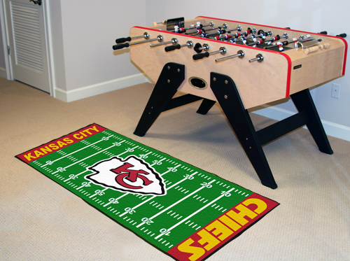 Kansas City Chiefs Football Field Runner Mat