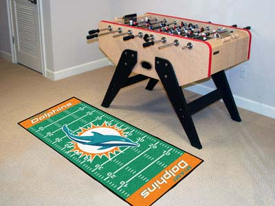 Miami Dolphins Football Field Runner Mat
