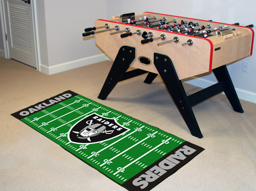 Oakland Raiders Football Field Runner Mat