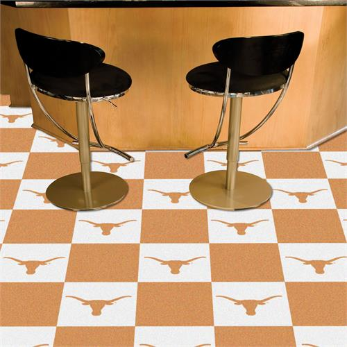 Texas Longhorns Carpet Tile Set