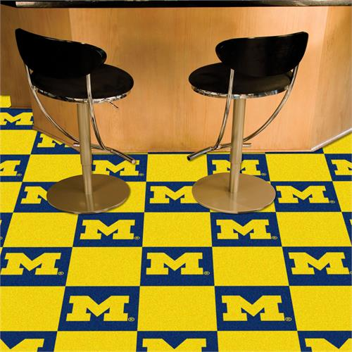 Michigan Wolverines Carpet Tile Set