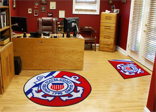 U.S. Coast Guard Round Area Rug