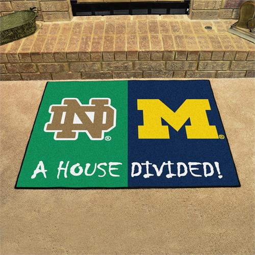 Notre Dame-Michigan House Divided Mat
