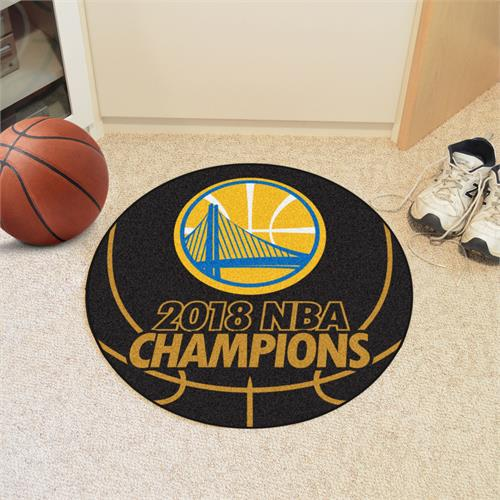 Golden State Warriors 2018 NBA Champions Basketball Mat
