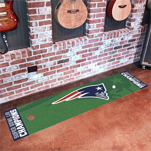 New England Patriots Super Bowl LIII Champions Putting Green Runner Mat