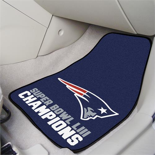 New England Patriots Super Bowl LIII Champions Carpet Car Mats