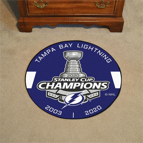 Tampa Bay Lightning 2020 Stanley Cup Champions Puck Mat