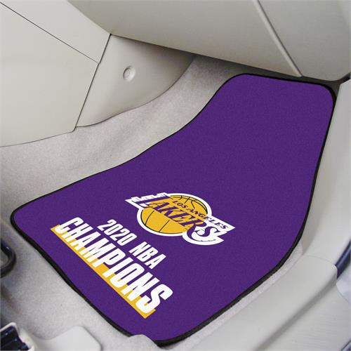 Los Angeles Lakers 2020 NBA Finals Champions Carpet Car Mats