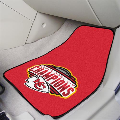 Kansas City Chiefs Super Bowl LIV Champions Carpet Car Mats