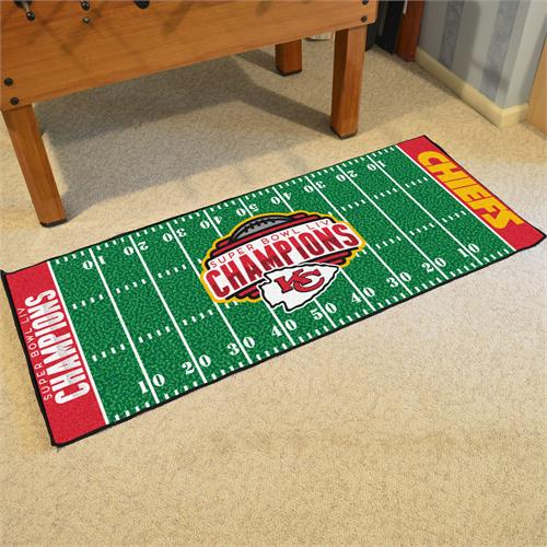 Kansas City Chiefs Super Bowl LIV Champions Football Field Runner Mat