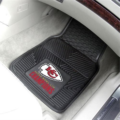 Kansas City Chiefs Super Bowl LIV Champions Vinyl Car Mats