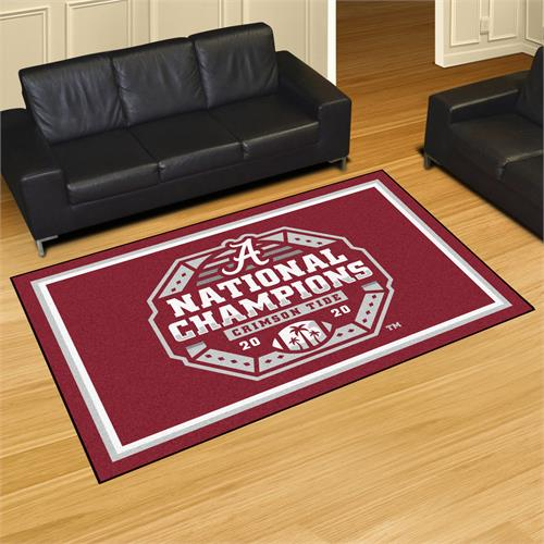 Alabama Crimson Tide 2020 National Champions 5'x8' Plush Rug