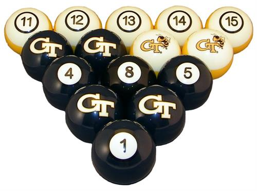 Georgia Tech Yellow Jackets Numbered Pool Balls