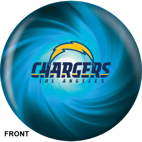 Los Angeles Chargers Bowling Ball Front View