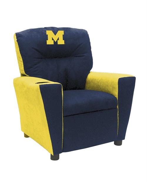 Michigan Wolverines Kids Fan Favorite Recliner