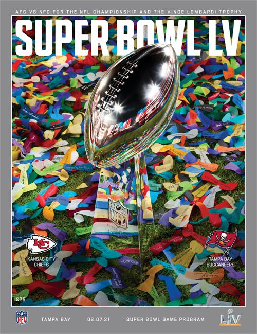 2021 Official Super Bowl LV Stadium Version Program