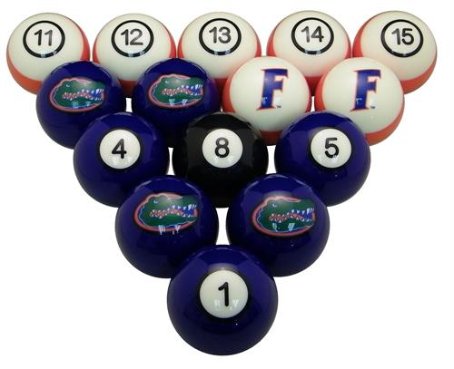 Florida Gators Numbered Pool Balls