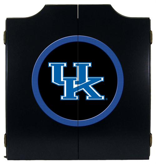 Kentucky Wildcats UK Logo Black Dart Board Cabinet