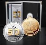 Super Bowl 50 Official Two Tone Flip Coin Panthers/Broncos