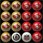 San Francisco 49ers Pool Balls