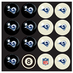 Los Angeles Rams Pool Balls