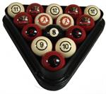 Alabama Crimson Tide Numbered Pool Balls