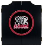 Alabama Elephant Logo Black Dart Board Cabinet