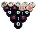 Arizona Wildcats Numbered Pool Balls
