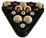 Auburn Tigers Numbered Pool Balls