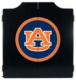 Auburn Tigers Black Dart Board Cabinet With AU Logo