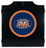 Auburn Tigers Black Dart Board Cabinet With Tiger Eye Logo