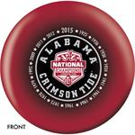 Alabama 2015 National Champions Bowling Ball Front View