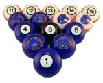 Boise State Broncos Numbered Pool Balls