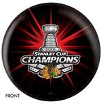 Chicago Blackhawks 2015 Stanley Cup Champions Bowling Ball Front View
