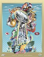 2020 - Official Super Bowl LIV Holographic Stadium Version Program