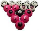 Cincinnati Bearcats Numbered Pool Balls