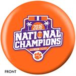 Clemson Tigers 2016 National Champions Bowling Ball Front View