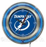 Tampa Bay Lightning 15 Inch Neon Clock
