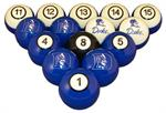 Duke Blue Devils Numbered Pool Balls