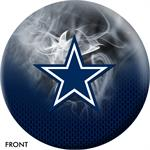 Dallas Cowboys On Fire Bowling Ball Front View