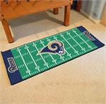Los Angeles Rams Football Field Runner Mat